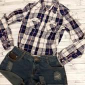Стильные шорты + крутая рубашка клетка))))