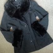 Пальто(Англия) 20% шерсти,размер 18(44-46)