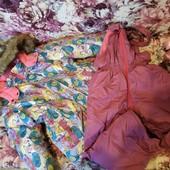 Зимний комбинезон+куртка 3-5 лет, рост 104-116 Happy& Pretty