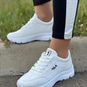 Шикарные белые кроссовки fila 36-40