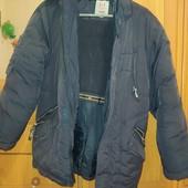 Куртка зимняя тёплая подростковая на рост 158 см. Не промокает