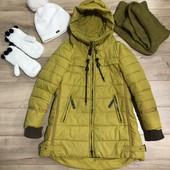 Куртка + шапка + хомут + Варежки