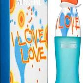 Оригинал! Moschino i love love, миниверсия.