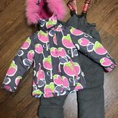 Очень тёплый зимний костюм р116-122