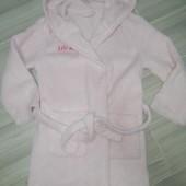 Плюшевый халат на девочку 5-7лет замеры на фото