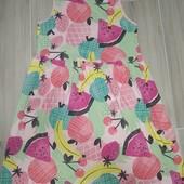 Лёгкое натуральное платье на девочку 10-11лет замеры на фото