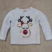 Тёплый, красивый свитерок на 3-4 года