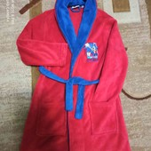 Теплый плюшевый халат на 8-9 лет, р.128-134 см в идеале