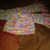 Шикарный набор шапка и шарф для девочки