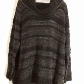 Роскошный теплый свитер 52/54/56 р,пог 62 -70 см.