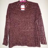 Красивый теплый свитер с люрексовой искрой 54/56 р,пог 62-72 см