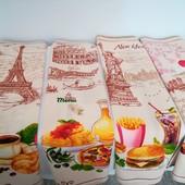 Города! Набор красивых хлопковых полотенец для кухни, для дома!