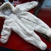 Primark демисезонный комбинезон новорожденному малышу 0-3-6м мягкий мальчику девочке новый