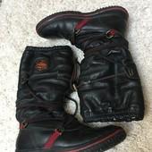 Шкіряні зимові чоботи 38 р