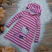 Вау! Класснючее платьице из тонкой махры для дома, сна или после купания на 2/3 года