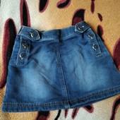 Классная,фирменная, уплотнённая,джинсовая юбочка девочке 2-4 лет,замеры