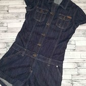 Стильный джинсовый комбез в новом состоянии