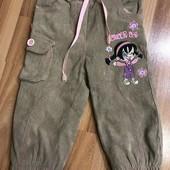 Тёплые штанишки на девочку