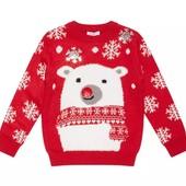 Яркий новогодний свитерок bluezoo на 11-12 лет. Крутые лоты только сегодня.