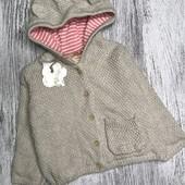 Lupilu милый вязаный свитерок на подкладке р.62/68