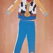 """Отличное состояние!!Яркая хлопковая двухсторонняя пижама """"История игрушек""""!5-6 л и р110-116 см!"""