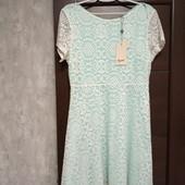 Фирменное новое красивое ажурное платье р.12-14