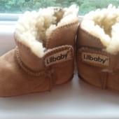 Теплі чобітки - пінетки для малюків