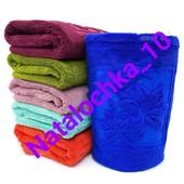 Пушистое полотенце для рук Лилия 35*70см, (микрофибра), лот 1шт. Турция. Отличного качества!