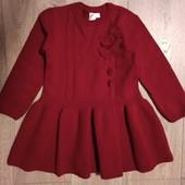 Платье вязанное теплое 4-5 лет.