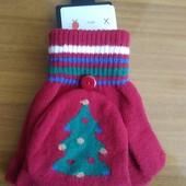 Красивые перчатки, варежки Clockhouse от C&A, Германия, размер примерно128-146