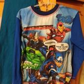 Пижама Супергерои Марвел,,7-8 лет,коттон