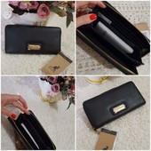 ❤️Kangol Оригинал!стильный брендовый кошелек черный благородный.Качество отличное!!Вместительный!!