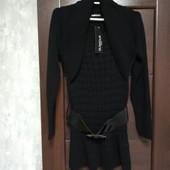 Фирменный новый красивый свитер-туничка с ремнем-резинкой р.12-14.