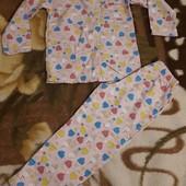 2 красиві і якісні піжамки одним лотом 5-6років,див-ся заміри,стан гарний