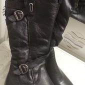 Кожаные зимние сапоги Мида в 39-40 размере, стелька 26-26,5 см