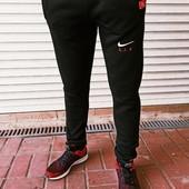 Батали!!! Теплие на флисе мужские спортивне штани на манжеті трикота 3-ох нитка,Найк 56-64 Якість!!
