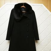 Утеплене кашемірове пальто з натуральним хутряним каміром розмір М,орієнтуйтесь по замірах!!!