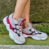 Замшевые яркие кроссовки в стиле Колор Блокинг.37-23.5,40-25см.