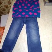 Утеплённые джинсы + флиска, одним лотом