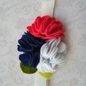 Повязка для девочки с цветами