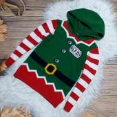 Вау! Тёпленький новогодний свитерок на 7 лет