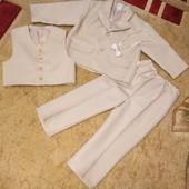 Собирайте мои лоты! Шикарный детский костюм тройка для мальчика на 2-3,5 года. На рост 86 см.