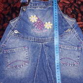Лот 2 фирменных джинсовых сарафана от 2-3лет смотрите замеры