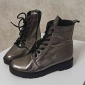 кожаные зимние ботинки 36р