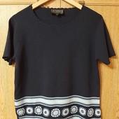 Нарядная вискозная блуза Casamia Exclusive Англия с ручным декором размер 52-54