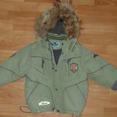 Тёплая зимняя куртка -Danilo! Мех -натуральный! На мальчика 92-98, возможно 104