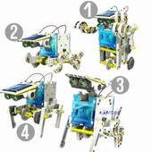 робот конструктор 13 в 1 на солнечных батареях