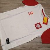 Польша! Спортивная футболка для физкультуры, размер 146 см рост