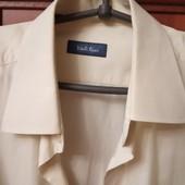 Коттоновая мужская рубашка цвет шампанского