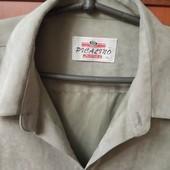 Обалденная мужская рубашка фисташкового цвета батального размера